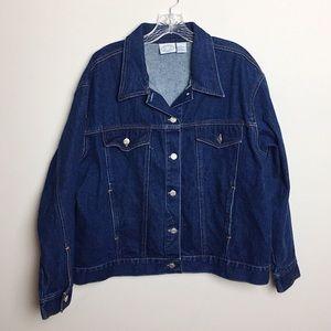 Vintage 90s Carolina Blues Dark Wash Jean Jacket